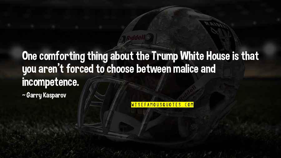 Comforting Quotes By Garry Kasparov: One comforting thing about the Trump White House