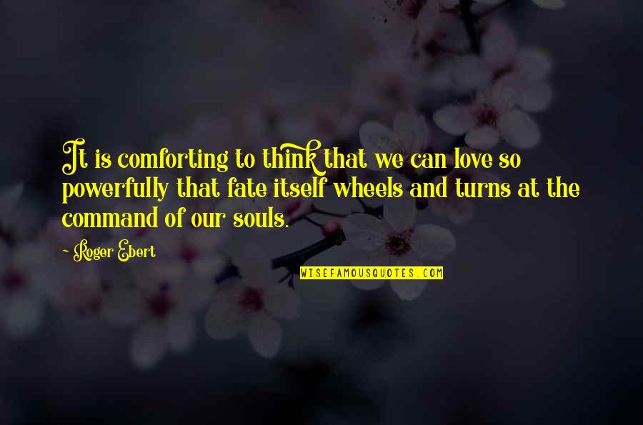 Comforting Quotes By Roger Ebert: It is comforting to think that we can