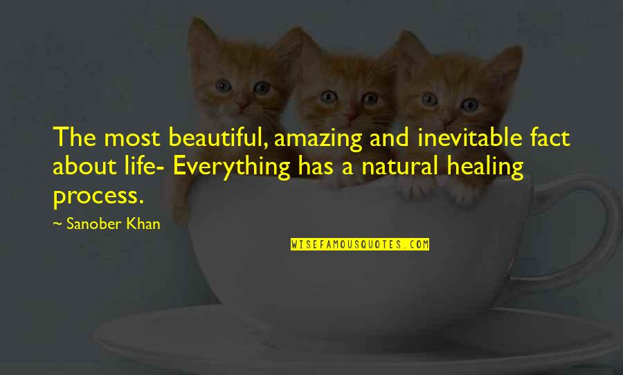 Comforting Quotes By Sanober Khan: The most beautiful, amazing and inevitable fact about