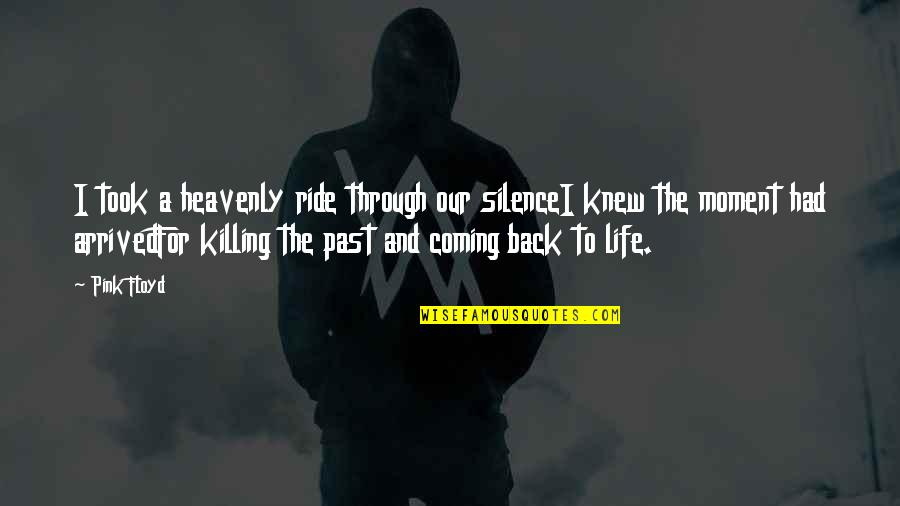 Coming Back Into My Life Quotes By Pink Floyd: I took a heavenly ride through our silenceI