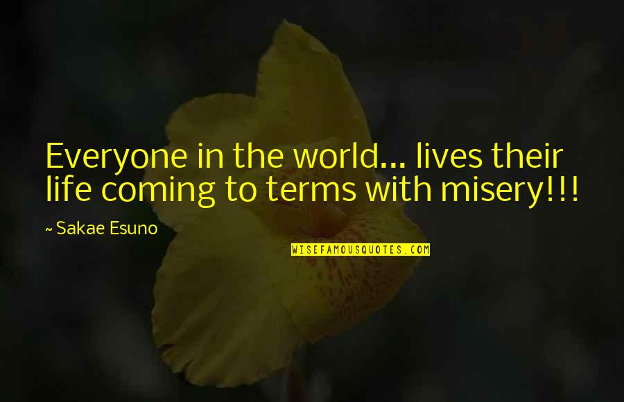 Coming To Terms With Life Quotes By Sakae Esuno: Everyone in the world... lives their life coming