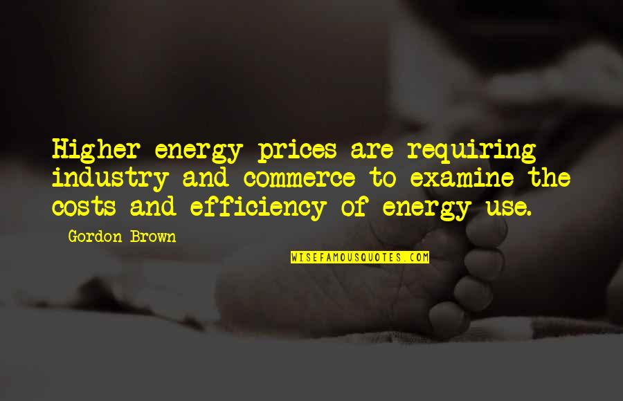 Commerce Quotes By Gordon Brown: Higher energy prices are requiring industry and commerce