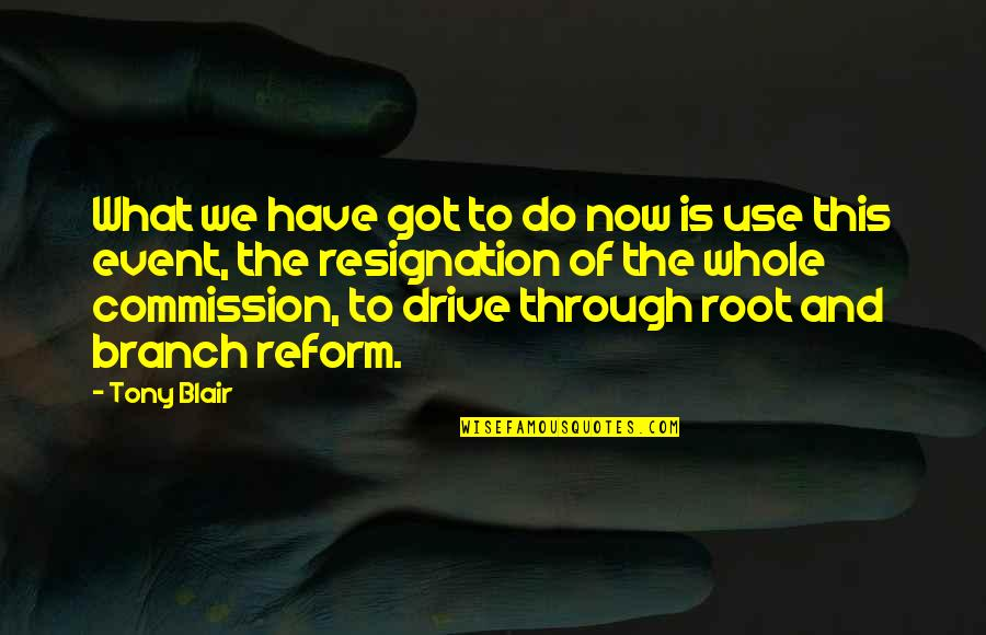 Commission Quotes By Tony Blair: What we have got to do now is