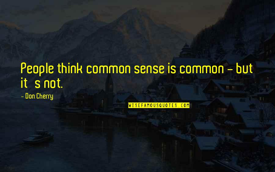 Common Sense Quotes By Don Cherry: People think common sense is common - but