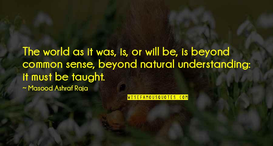 Common Sense Quotes By Masood Ashraf Raja: The world as it was, is, or will