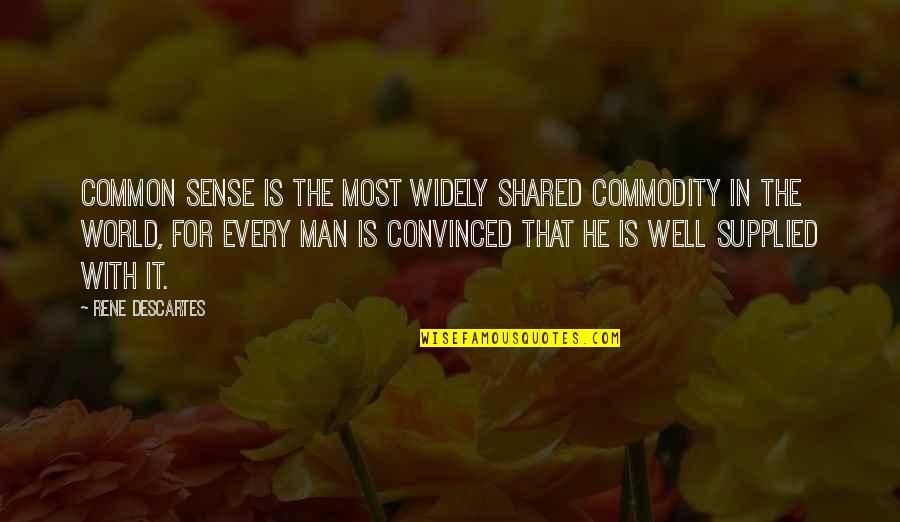 Common Sense Quotes By Rene Descartes: Common sense is the most widely shared commodity