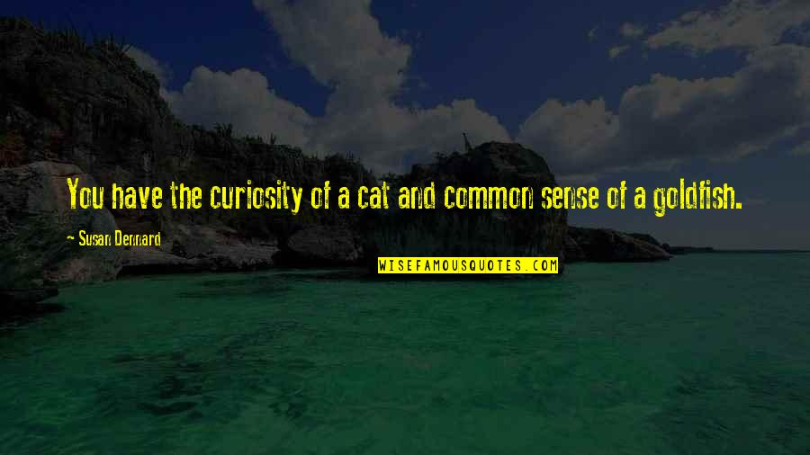 Common Sense Quotes By Susan Dennard: You have the curiosity of a cat and