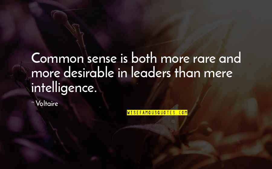 Common Sense Quotes By Voltaire: Common sense is both more rare and more