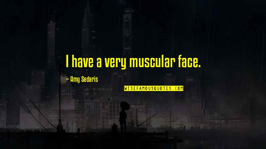 Common Senses Quotes By Amy Sedaris: I have a very muscular face.