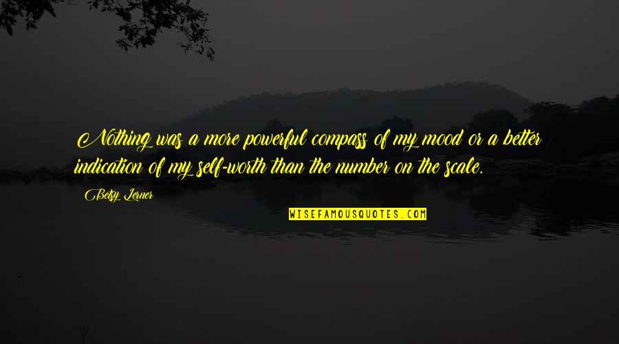 Compass'd Quotes By Betsy Lerner: Nothing was a more powerful compass of my