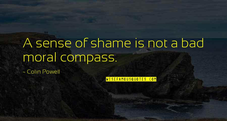Compass'd Quotes By Colin Powell: A sense of shame is not a bad