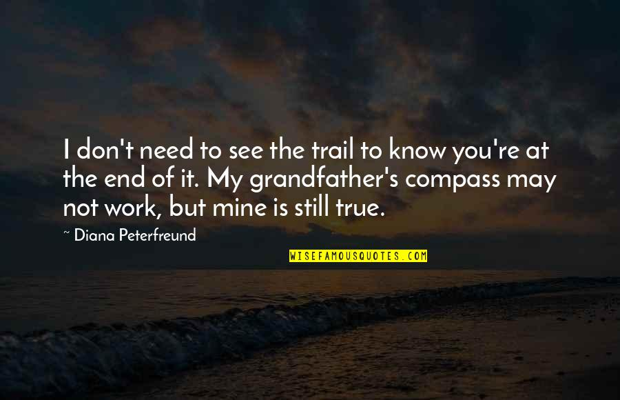 Compass'd Quotes By Diana Peterfreund: I don't need to see the trail to