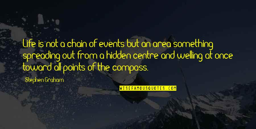 Compass'd Quotes By Stephen Graham: Life is not a chain of events but