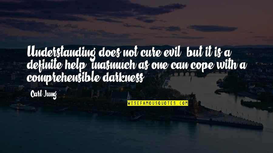 Comprehensible Quotes By Carl Jung: Understanding does not cure evil, but it is
