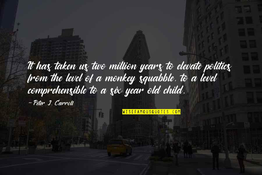 Comprehensible Quotes By Peter J. Carroll: It has taken us two million years to
