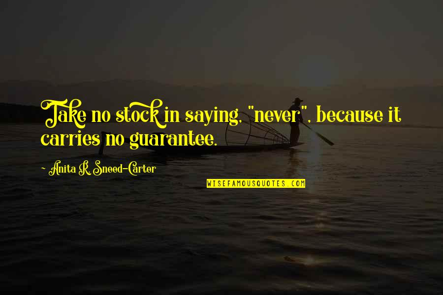 "Compromise Tumblr Quotes By Anita R. Sneed-Carter: Take no stock in saying, ""never"", because it"