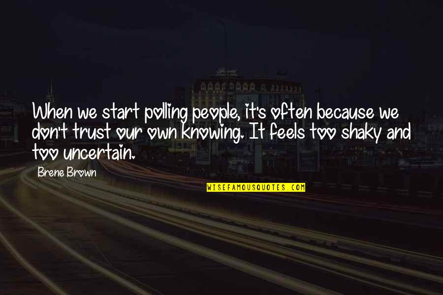 Compte Rendu Quotes By Brene Brown: When we start polling people, it's often because