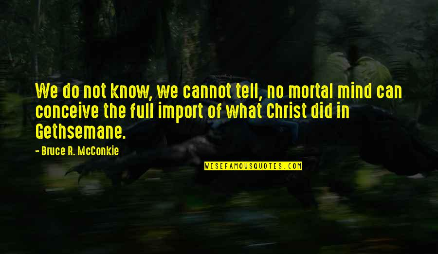Conceive Quotes By Bruce R. McConkie: We do not know, we cannot tell, no