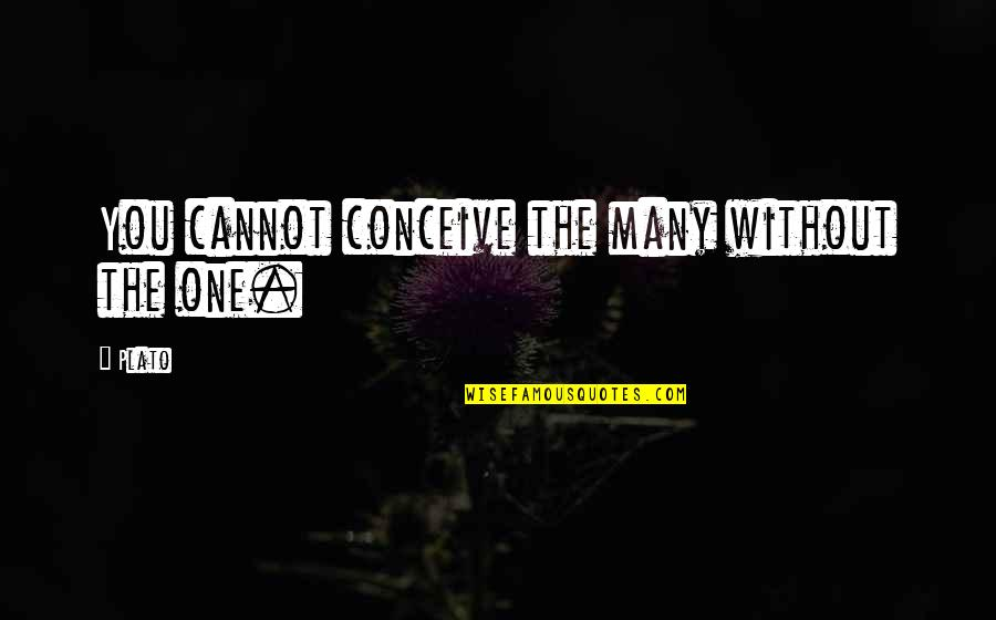 Conceive Quotes By Plato: You cannot conceive the many without the one.