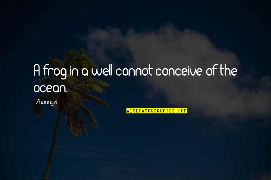 Conceive Quotes By Zhuangzi: A frog in a well cannot conceive of