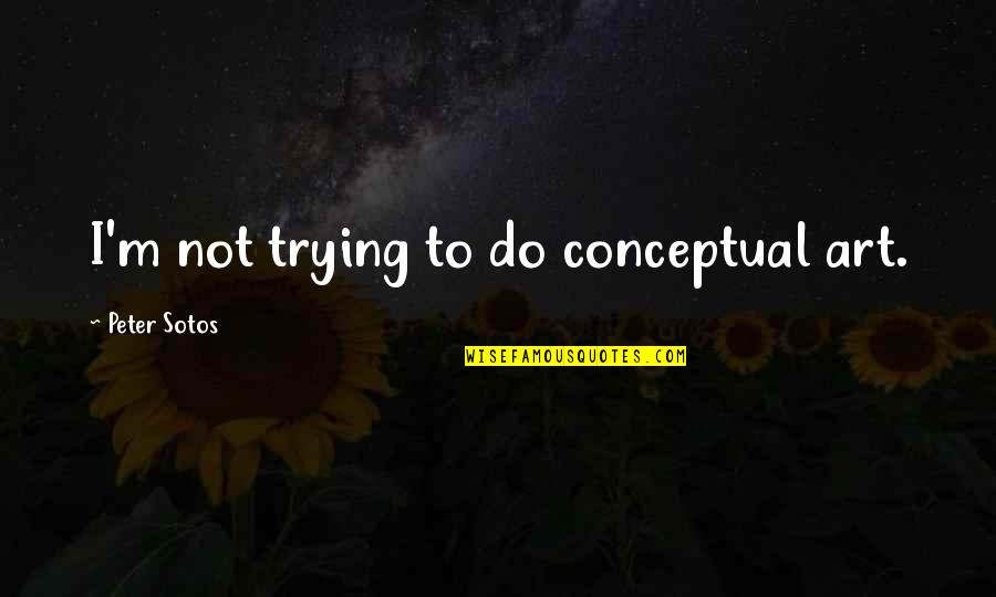 Conceptual Quotes By Peter Sotos: I'm not trying to do conceptual art.
