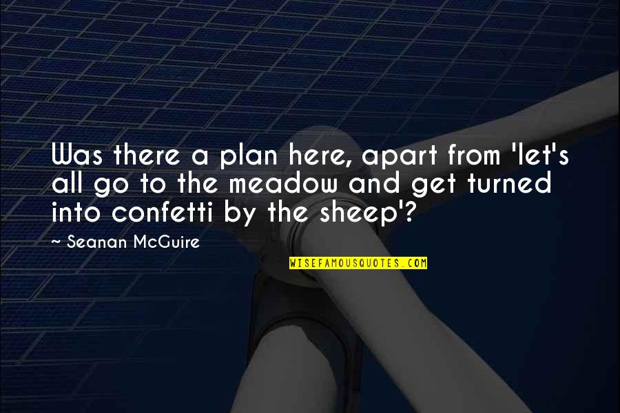 Confetti Quotes By Seanan McGuire: Was there a plan here, apart from 'let's
