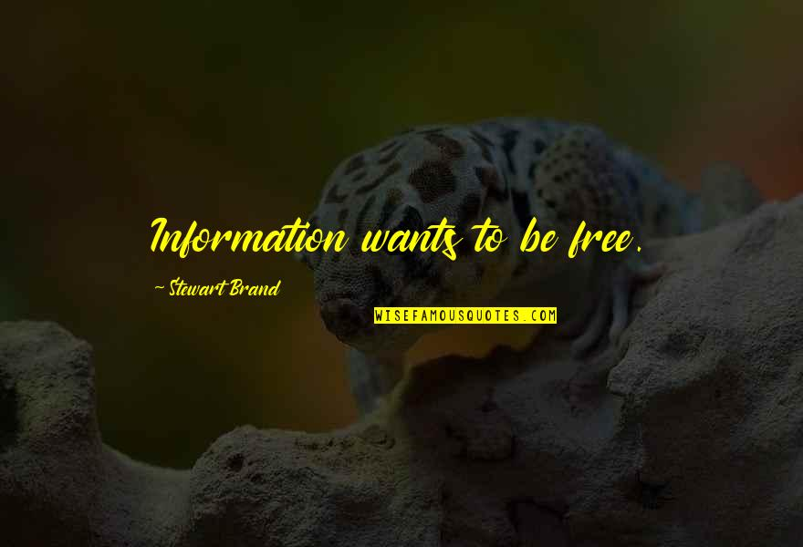 Confidence In Football Quotes By Stewart Brand: Information wants to be free.