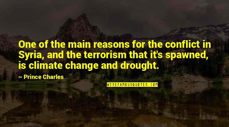Conflict And Change Quotes By Prince Charles: One of the main reasons for the conflict