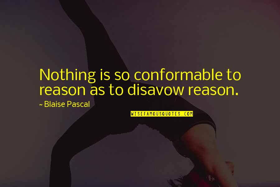 Conformable Quotes By Blaise Pascal: Nothing is so conformable to reason as to
