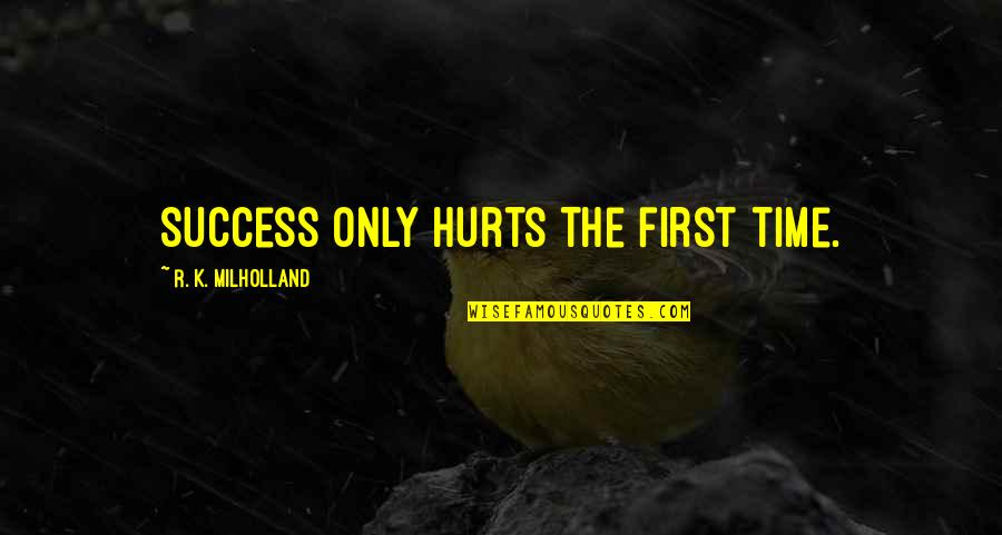 Congratulations For Success Quotes By R. K. Milholland: Success only hurts the first time.