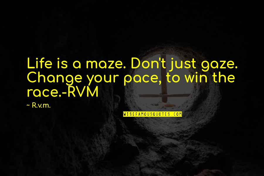 Congratulations On Retiring Quotes By R.v.m.: Life is a maze. Don't just gaze. Change