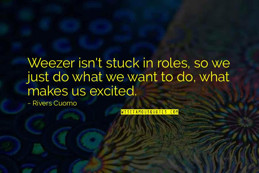Consciousn Quotes By Rivers Cuomo: Weezer isn't stuck in roles, so we just