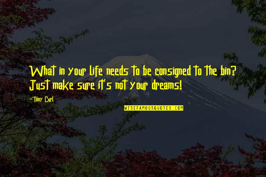 Consigned Quotes By Tony Curl: What in your life needs to be consigned