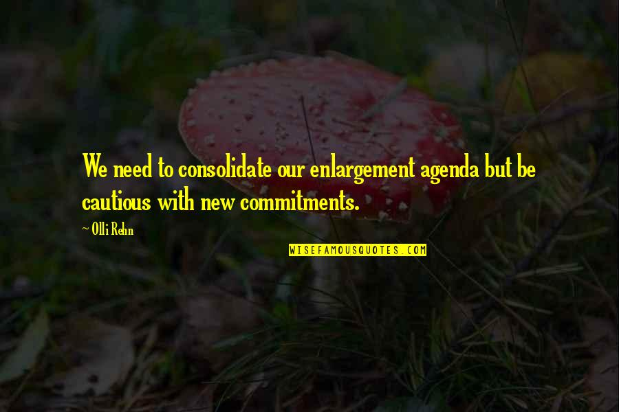 Consolidate Quotes By Olli Rehn: We need to consolidate our enlargement agenda but