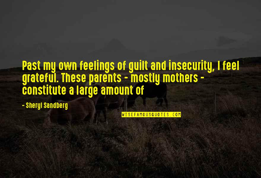 Constitute Quotes By Sheryl Sandberg: Past my own feelings of guilt and insecurity,