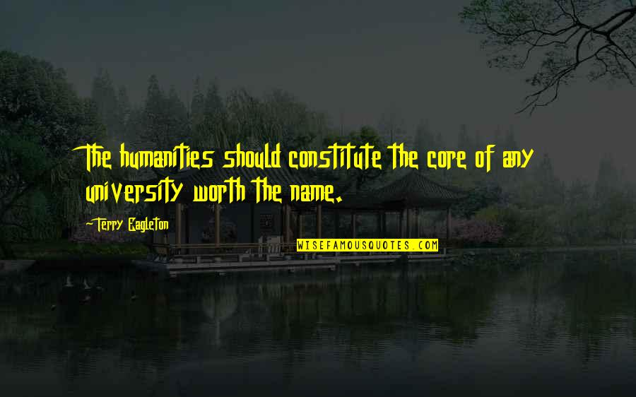Constitute Quotes By Terry Eagleton: The humanities should constitute the core of any
