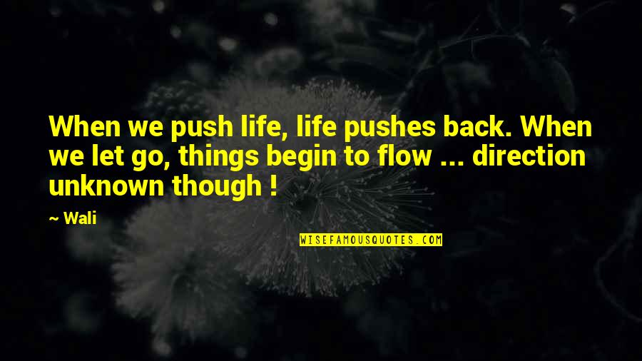 Constitutionalist Quotes By Wali: When we push life, life pushes back. When