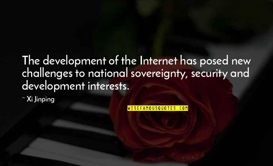 Constructionalist Quotes By Xi Jinping: The development of the Internet has posed new