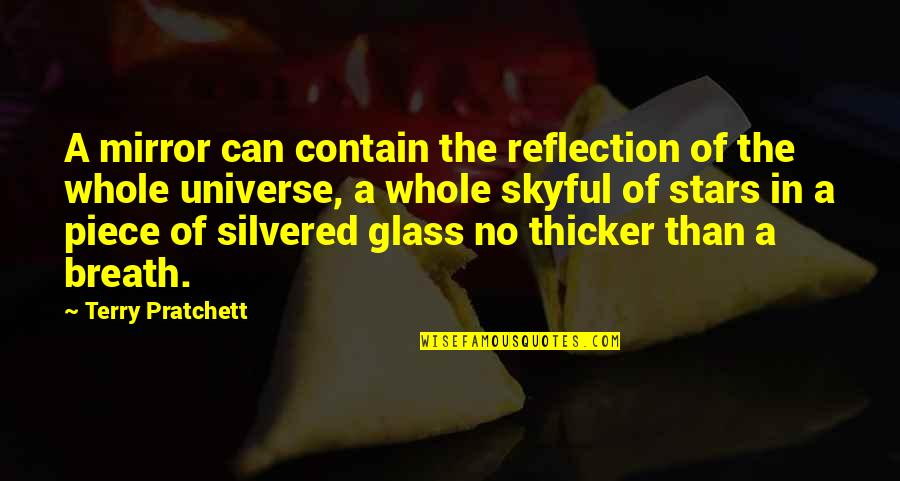 Contain Quotes By Terry Pratchett: A mirror can contain the reflection of the