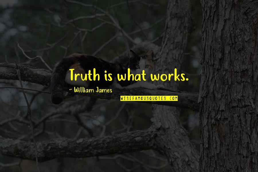 Contrasting Places Quotes By William James: Truth is what works.