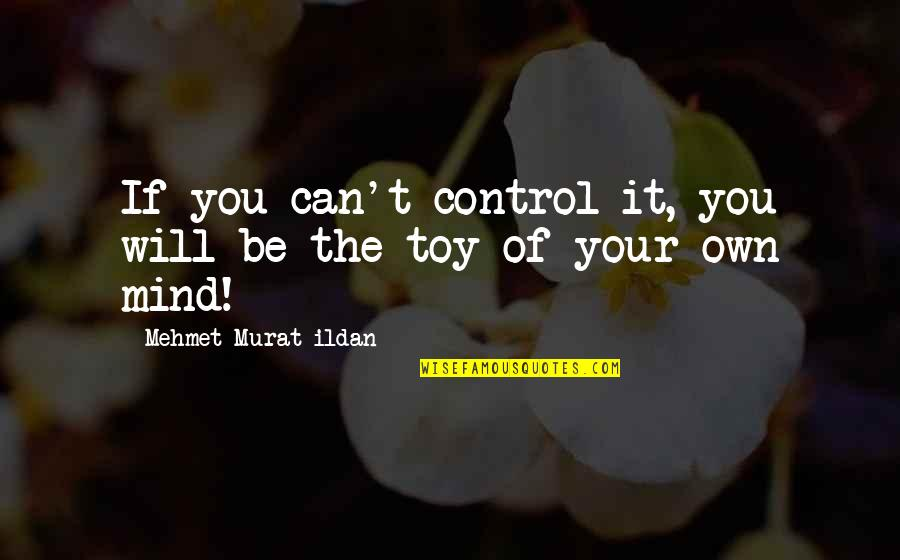 Control Your Own Mind Quotes By Mehmet Murat Ildan: If you can't control it, you will be
