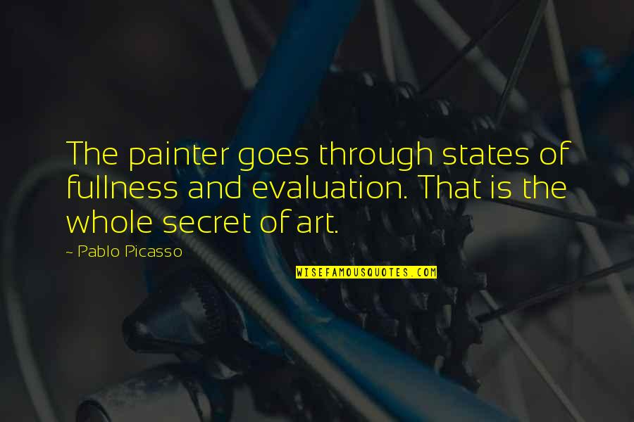 Contumely Quotes By Pablo Picasso: The painter goes through states of fullness and