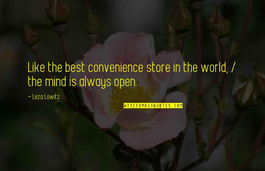 Convenience Store Quotes By Leza Lowitz: Like the best convenience store in the world,