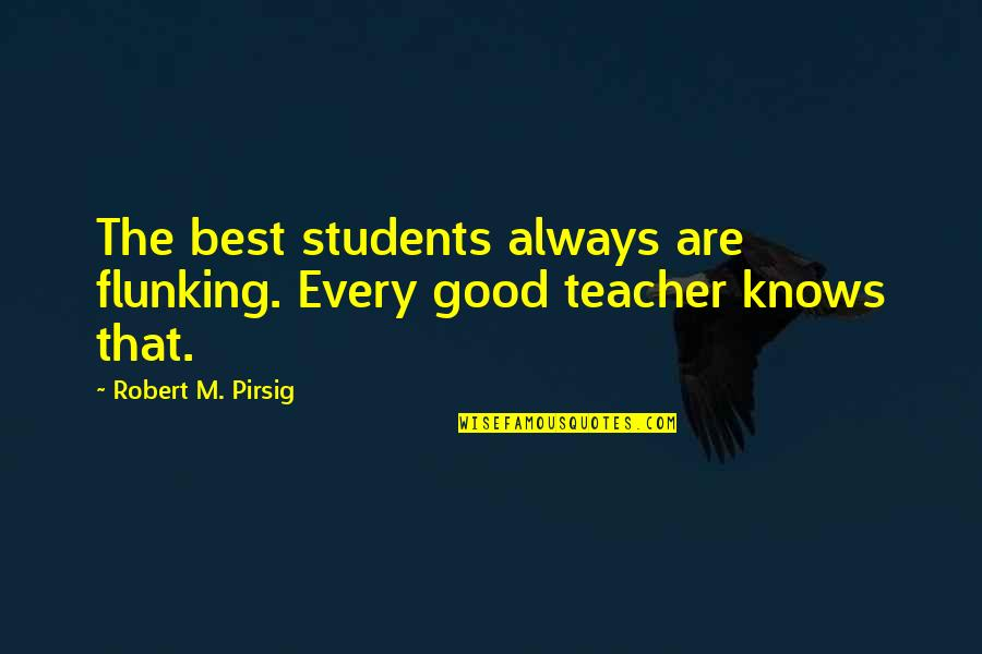 Cookies On Christmas Quotes By Robert M. Pirsig: The best students always are flunking. Every good