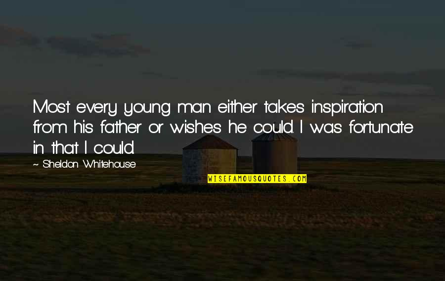 Cooking For Family Quotes By Sheldon Whitehouse: Most every young man either takes inspiration from