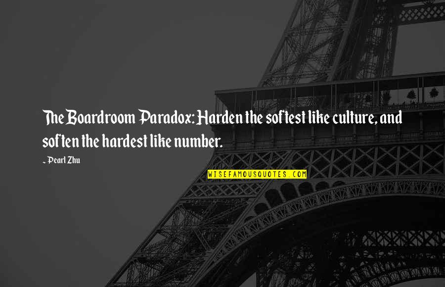 Cool Hiking Quotes By Pearl Zhu: The Boardroom Paradox: Harden the softest like culture,