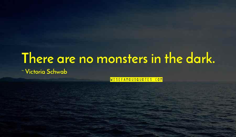 Cooperation And Collaboration Quotes By Victoria Schwab: There are no monsters in the dark.
