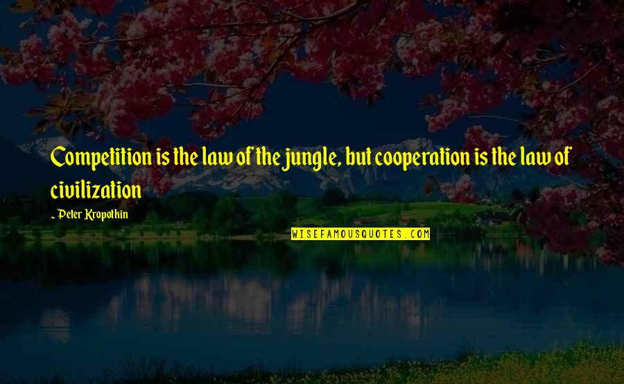 Cooperation And Competition Quotes By Peter Kropotkin: Competition is the law of the jungle, but