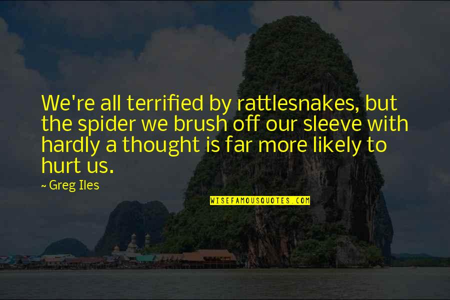 Coronation Night Quotes By Greg Iles: We're all terrified by rattlesnakes, but the spider