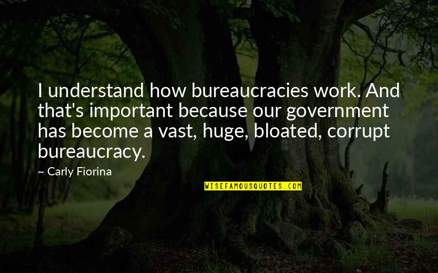 Corrupt Bureaucracy Quotes By Carly Fiorina: I understand how bureaucracies work. And that's important